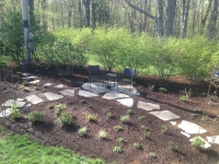 flagstone path landscape installation