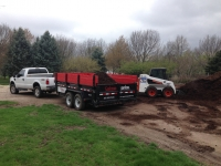mulch delivery, soil delivery, rock delivery