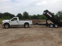 bulk landscape material delivery, mulch, topsoil, rock